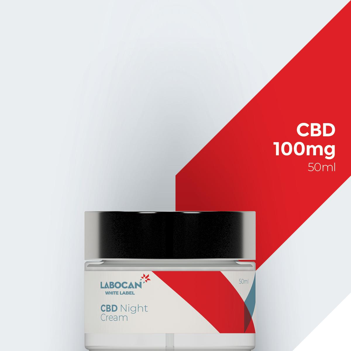 White Label CBD Nachtcrème